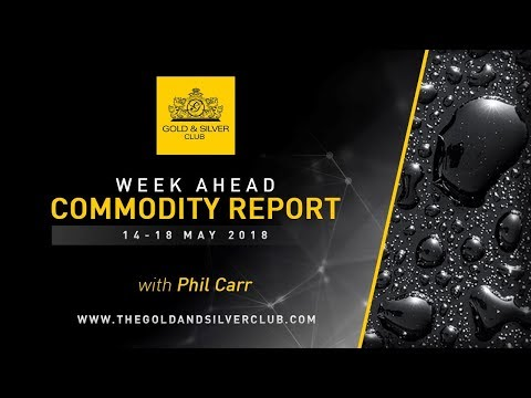 WEEK AHEAD COMMODITY REPORT: MAY 14 - 18, 2018: GOLD, SILVER & OIL PRICE FORECAST