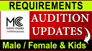 Mukesh Chhabra Auditions | Casting Call Auditions | Acting Audition Update 2021 | Join To Bollywood