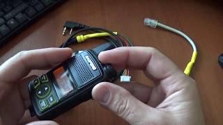 Talkie Baofeng walkie uchun dasturlash kabel BAT-T1 o'z qo'llari bilan