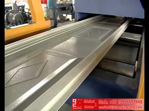 Continuous Garage Door PU Sandwich Panel Machine Production Line