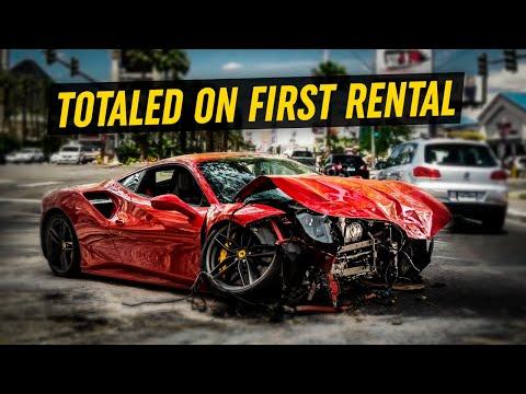 Brand New Ferrari F8 Tributo DESTROYED on First Rental