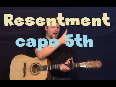 Resentment (Beyonce) EASY Guitar Lesson Strum Chord Fingerstyle How ...