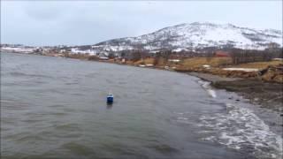 Ine, Model trawler in storm