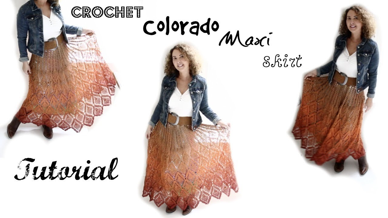 Colorado Crochet Maxi Skirt Tutorial Youtube