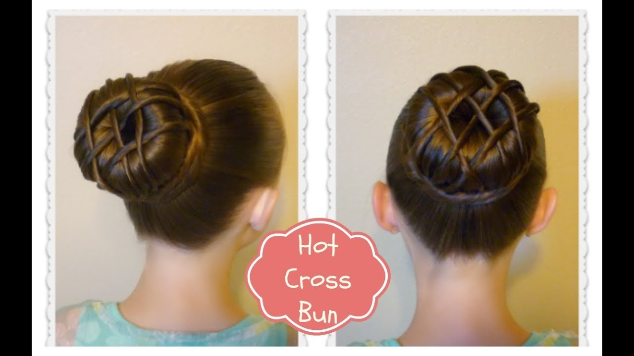 Hot Cross Bun Hairstyle Dance Hair Ballet Bun YouTube - Hairstyle for valentine's dance