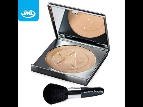 JML Mineral Magic Foundation Concealer Colour Corrector Powder Make Up with Professional Brush