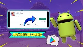 FORTNITE MOBILE ANDROID - OFFICIAL RELEASE DATE CONFIRMED *LEAKED*