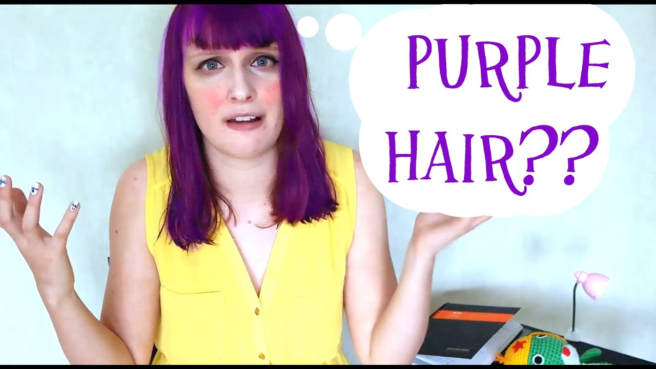 PURPLE HAIR Loreal Feria Intense Violet Review YouTube