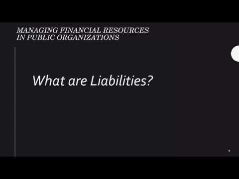 Financial Position Basics - What are Liabilities?