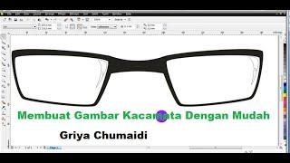 Tutorial Corel #11 Cara Membuat Gambar Kacamata