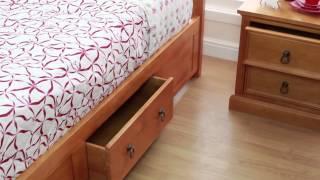 Lawford Wooden Bed - Sweet Dreams