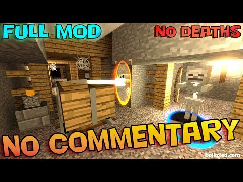 Minecraft In Portal 2 - Part 2 - THE MINE - Full Walkthrough