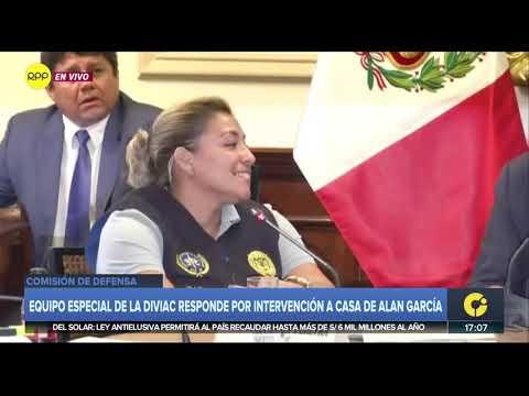 Caso Alan García | Diviac declaró ante la Comisión de Defensa del Congreso
