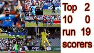 Top 10 run scorers of ICC Cricket World Cup 2019 #srupdatepro