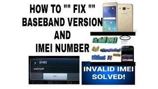 Samsung How to fix baseband version unknown/ null imei fix without pc 2017