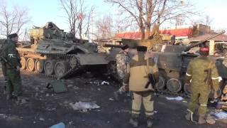 Rebels collect trophy equipment from Debaltseve. War in Ukraine/news of Ukraine.