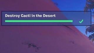 ✅ Destroy Cacti in the Desert - Fortnite Week 3 Season 8 Challenge