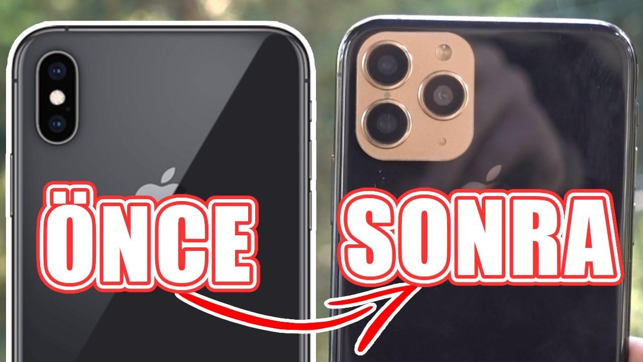 iPhone XS'i 35 TL'ye iPhone 11 Pro'ya Çevirdik! (iPhone 15 XS FR R 2X Pro Oldu!)