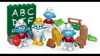 Smurf Mega Bloks Unboxing Schoolin Smurfs & Celebration Sets $5 at Walmart