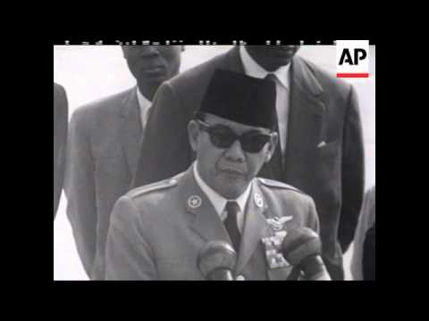 President Sukarno With Kennedy - PART SOUND - 1961