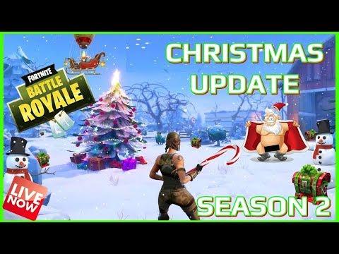 FORTNITE BATTLE ROYALE - SEASON 2 - CHRISTMAS UPDATE INBOUND - LIVE - (PS4  PRO) Full HD