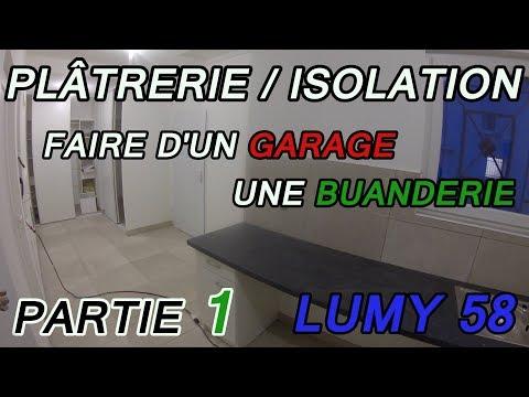 cloisonner et isoler un garage pour en faire une buanderie 1 youtube. Black Bedroom Furniture Sets. Home Design Ideas