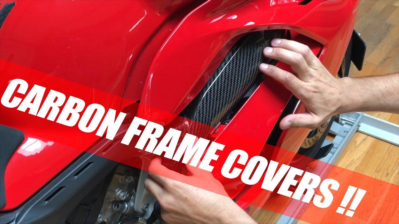 decb3bb182a9 Ducati Panigale V4 Carbon fiber frame covers installation DIY V4EVO ...