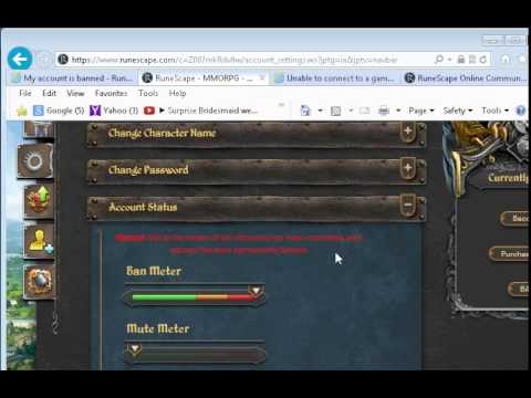 Unfair Ruling Banned Runescape Account Without Fair Ruling