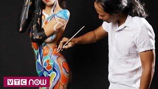 Mong manh chuyện họa sĩ body painting và người mẫu    VTC Now