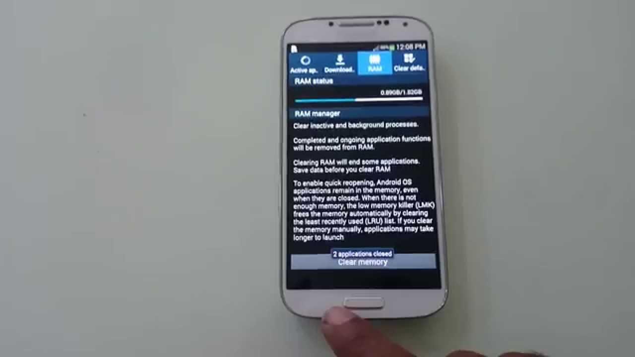 f5a3e9dcbb9 How To Clear Ram on Samsung Galaxy S4 - YouTube