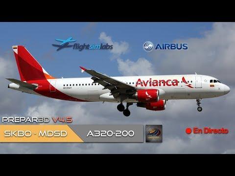DIRECTO [P3Dv4.5] FSLabs A320-200 | SKBO - MDSD | IVAO (ESP/ENG)