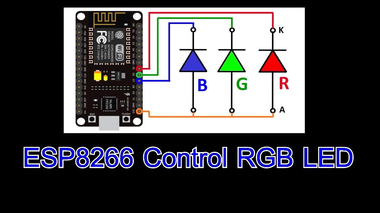 ESP8266 RGBLED Control