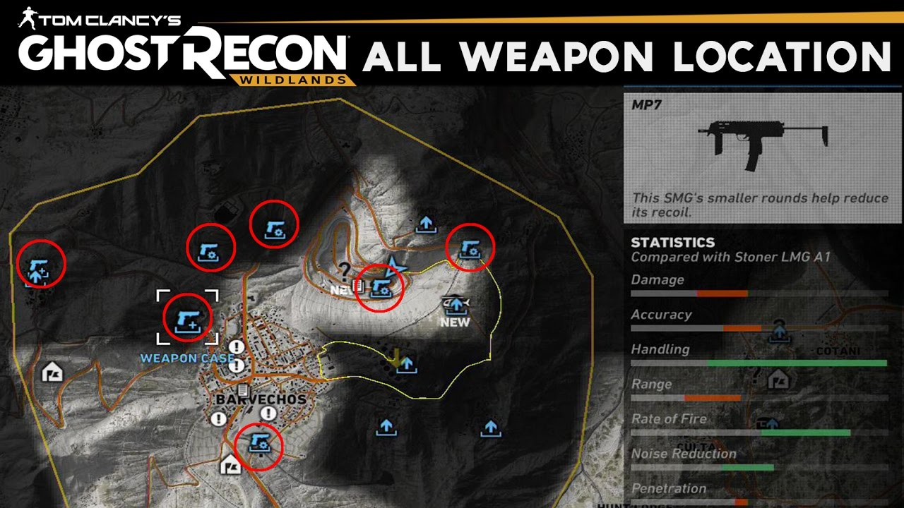 Ghost Recon Wildlands - How to Unlock All Weapons & Gun Parts (All Weapons  Locations)