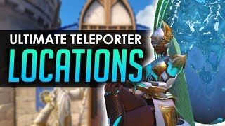 Overwatch ULTIMATE TELEPORTER LOCATIONS All Maps Including Blizzard World