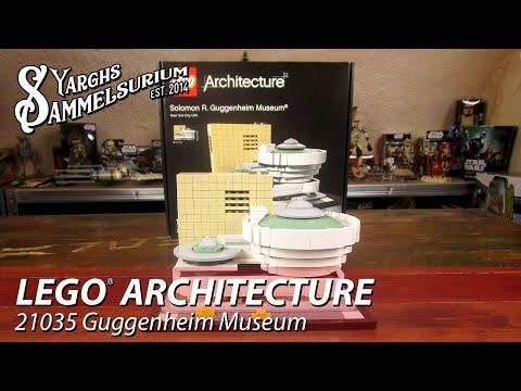LEGO Architecture - Solomon R. Guggenheim Museum 21035 - Timelapse Unboxing Review - deutsch
