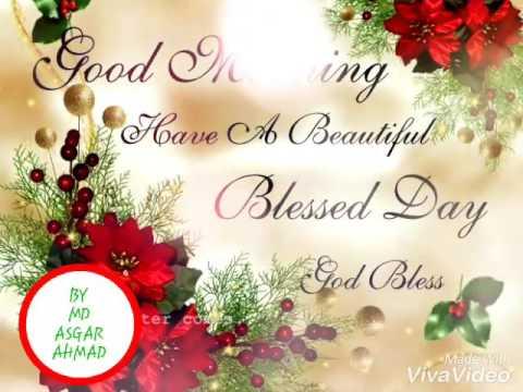 GOOD MORNING E- GREETING, E- CARD, BLESSING - YouTube