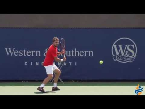 Stanislas Wawrinka's backhand (slow motion)