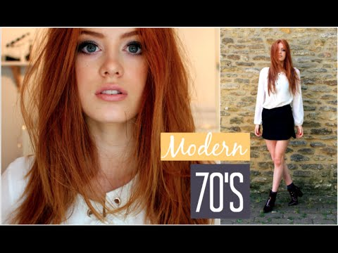 70's Look | Makeup, Hair & Outfit | MsRosieBea