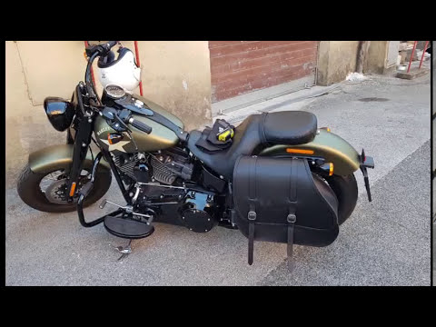 How To Mount Detachable Leather Saddlebag On Hd Softail