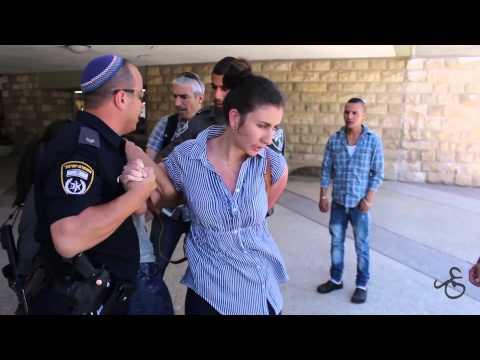 Student activists arrested inside the Hebrew University by armed border police, 29 April 2014