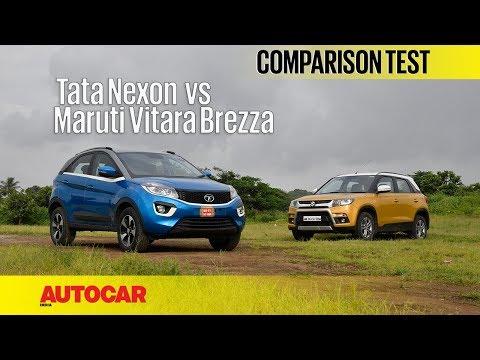 Tata Nexon vs Maruti Vitara Brezza | Comparison Test | Autocar India