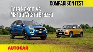 Tata Nexon vs Maruti Vitara Brezza | Comparison Test | Autocar India