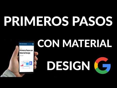 Primeros Pasos con Material Design