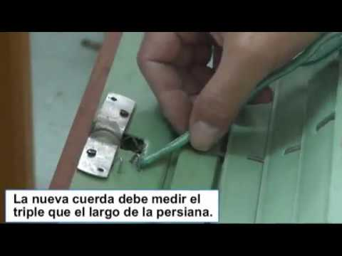 Cambiar o poner la cuerda a una persiana alicantina youtube - Como colocar la cuerda de una persiana ...