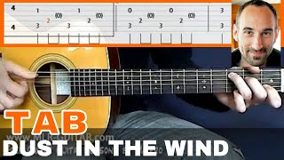 This is the guitar tab of the song Dust In The Wind by Kansas, chec...