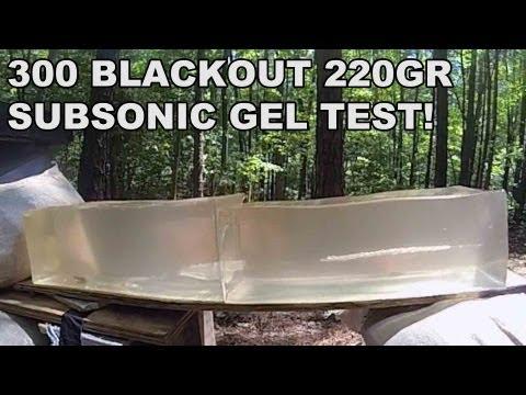 300 BLK 220gr Subsonic Gel Test! Remington's Factory Loaded