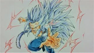 Drawing NEW created SAIYAN as SUPER SAIYAN 5 | BANASES | TolgArt