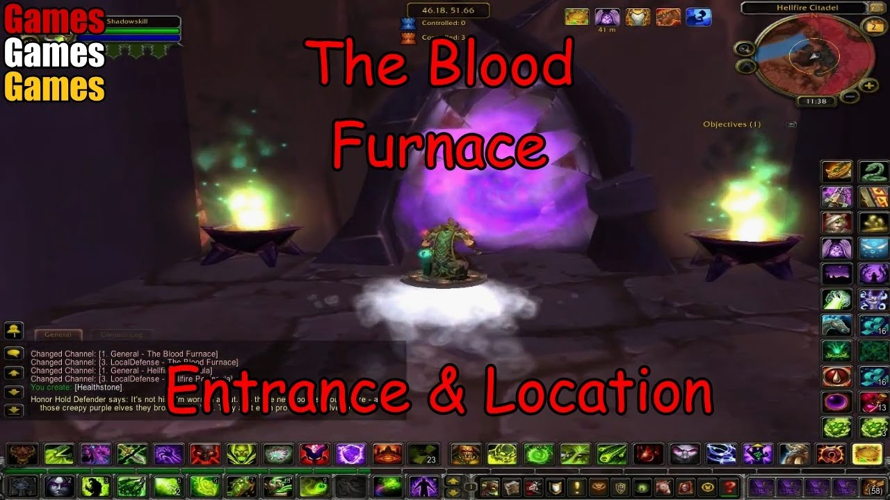 The Blood Furnace Entrance & Location World of Warcraft