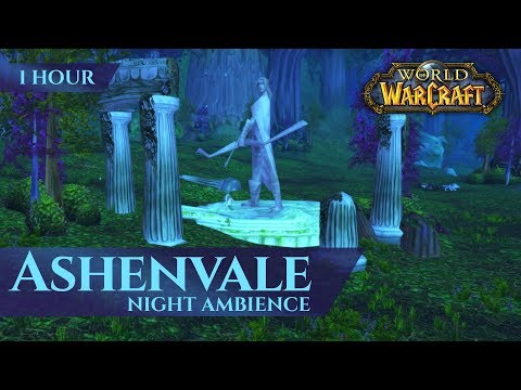 Vanilla Ashenvale - Night Ambience ASMR (1 hour, 4K, World of Warcraft Classic)