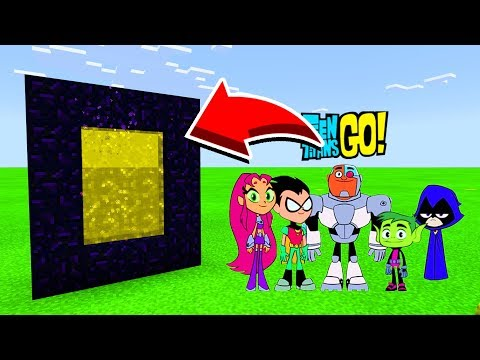 How To Make A Portal To TEEN TITANS GO In Minecaft Pocket Edition/MCPE